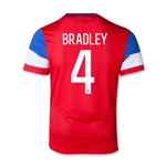 USA 2014 BRADLEY Youth Away Soccer Jersey