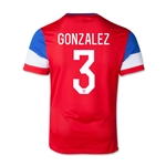 USA 2014 GONZALEZ Youth Away Soccer Jersey