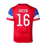 USA 14/15 GREEN Youth Away Soccer Jersey