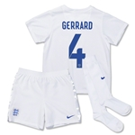 England 14/15 GERRARD Little Boys Home Soccer Kit