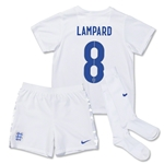 England 14/15 LAMPARD Little Boys Home Soccer Kit