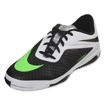 Nike Junior Hypervenom Phelon IC (Black/Neo Lime/White/Metallic Silver)