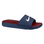 Nike Benassi Solarsoft Slide Sandal (Midnight Navy)