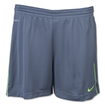 Nike Women's Academy Knit Short (Gray/Green)