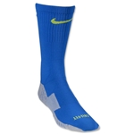 Nike Stadium Soccer Crew Sock (Royal/Lime Green)
