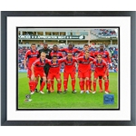Chicago Fire Team 2013 Double Matted Framed Photo