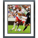 New York Red Bulls Thierry Henry Action Shot Double Matted Frame Photo