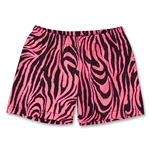 Pink Zebra 4 Compression Short (Black/Pink)