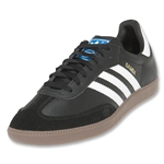 adidas Samba Leather Soccer Shoes (Black/White/Gum)