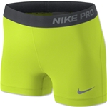 Nike Women's Pro 2.5 Short 2013 (Lime)