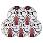 Select Royale Game Ball 5 Pack (Red)