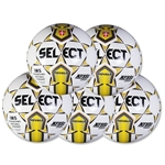 Select Royale Game Ball 5 Pack (Yellow)