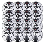 Select Club Training Ball 16 Pack (White/Black)