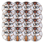 Select Club Training Ball 16 Pack (White/Orange)