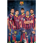 Barcelona 13/14 Player Poster