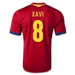 Spain 2013 Xavi Home Soccer Jersey