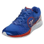 Warrior Prequel 2.0 Lacrosse Shoes (Blue/Spicy Orange)