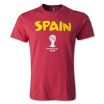 Spain 2014 FIFA World Cup T-Shirt (Heather Red)