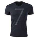Nike CR7 V Neck Tee (Black)