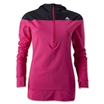 adidas Women's TechFit Cold Weather Half-Zip Hoody (Pi/Bk)