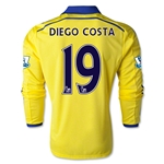 Chelsea 14/15 LS 19 DIEGO COSTA Away Soccer Jersey