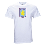 Aston Villa Large Crest T-Shirt (White)