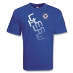 Chelsea Football Club Diagonal Soccer T-Shirt (Royal)