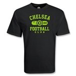 Chelsea Football Club Distressed Soccer T-Shirt (Black)