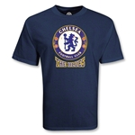 Chelsea Football Club The Blues Distressed Soccer T-Shirt (Navy)