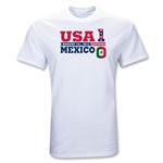 USA vs Mexico Azteca T-Shirt (White)