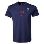 FIFA Beach World Cup 2013 USA T-Shirt (Navy)