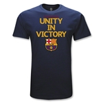 Barcelona Unity in Victory Soccer T-Shirt (Navy)