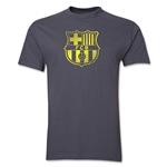 Barcelona Striped Logo T-Shirt (Dark Gray)