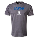 2014 FIFA World Cup Brazil(TM) Japan Core T-Shirt (Dark Gray)