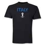Italy 2014 FIFA World Cup Brazil(TM) Men's Basic Core T-Shirt (Black)