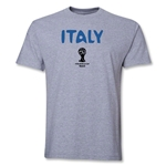 Italy 2014 FIFA World Cup Brazil(TM) Men's Basic Core T-Shirt (Grey)