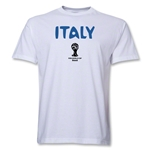 Italy 2014 FIFA World Cup Brazil(TM) Men's Basic Core T-Shirt (White)