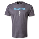 Argentina 2014 FIFA World Cup Brazil(TM) Men's Basic Core T-Shirt (Dark Grey)