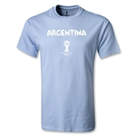 Argentina 2014 FIFA World Cup Brazil(TM) Men's Basic Core T-Shirt (Sky)