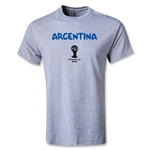 Argentina 2014 FIFA World Cup Brazil(TM) Men's Basic Core T-Shirt (Grey)