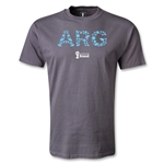 Argentina 2014 FIFA World Cup Brazil(TM) Elements T-Shirt (Dark Gray)