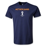 Netherlands 2014 FIFA World Cup Brazil(TM) Men's Basic Core T-Shirt (Navy)