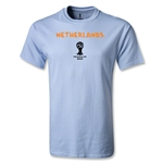 Netherlands 2014 FIFA World Cup Brazil(TM) Men's Basic Core T-Shirt (Sky)