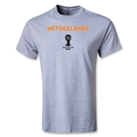Netherlands 2014 FIFA World Cup Brazil(TM) Men's Basic Core T-Shirt (Grey)