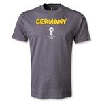 Germany 2014 FIFA World Cup Brazil(TM) Men's Core T-Shirt (Dark Gray)