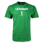 Germany 2014 FIFA World Cup Brazil(TM) Men's Core T-Shirt (Green)