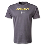 Germany 2014 FIFA World Cup Brazil(TM) Men's Palm T-Shirt (Dark Gray)