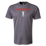 Switzerland 2014 FIFA World Cup Brazil(TM) Men's Core T-Shirt (Dark Gray)