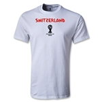 Switzerland 2014 FIFA World Cup Brazil(TM) Men's Core T-Shirt (White)