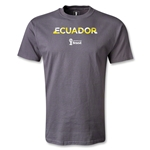 Ecuador 2014 FIFA World Cup Brazil(TM) Palm T-Shirt (Dark Gray)